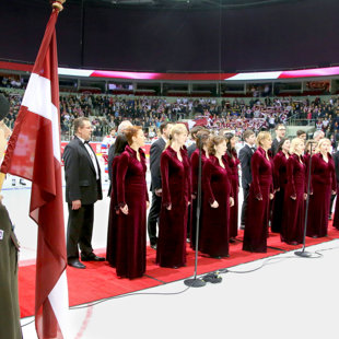 01.04.2017. The warm-up ice hockey game Latvia – Russia. Photo – Latvian Hockey Federation